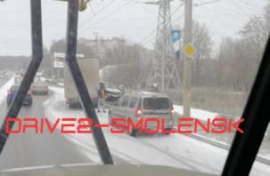 Ещё одна жёсткая авария на Краснинском шоссе. На месте скорая