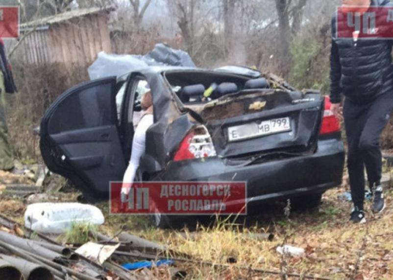 В Рославльском районе автоледи сделала кульбит на иномарке. Пассажирка в больнице