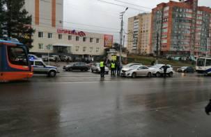 ДТП на путях остановило движение трамваев в Смоленске