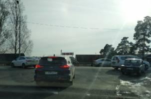 В Смоленске на Витебском шоссе произошло жёсткое ДТП