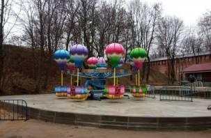 В Лопатинском саду для маленьких смолян установили новый аттракцион