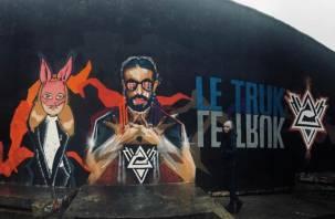 В Смоленске появилось граффити рэп-кумиру