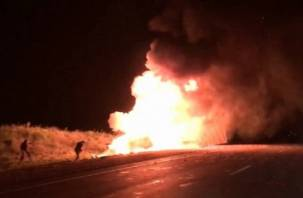 Водитель-дальнобойщик из Смоленска сгорел в кабине большегруза