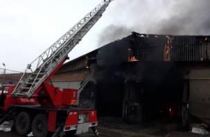 Сгорели автобусы и гаражный бокс. Подробности пожара в Сафонове