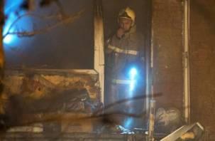 В Сычёвском районе в пожаре пострадал человек