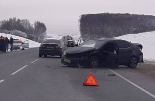 В Смоленском районе в ДТП пострадал человек