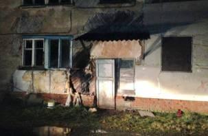 Огонь повредил стену. Смоляне потушили возгорание без помощи пожарных
