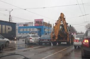 ДТП на Шевченко в Смоленске спровоцировало огромную пробку