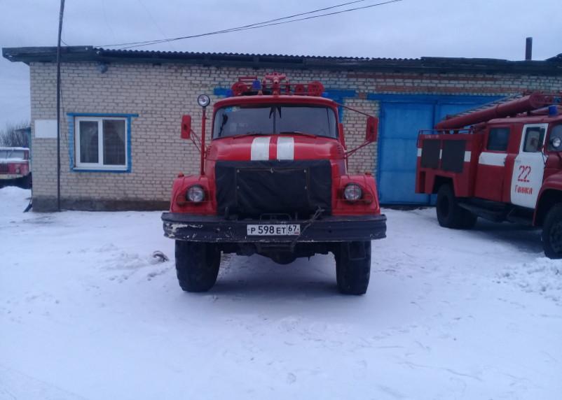 В Краснинском районе огонь повредил дачный дом