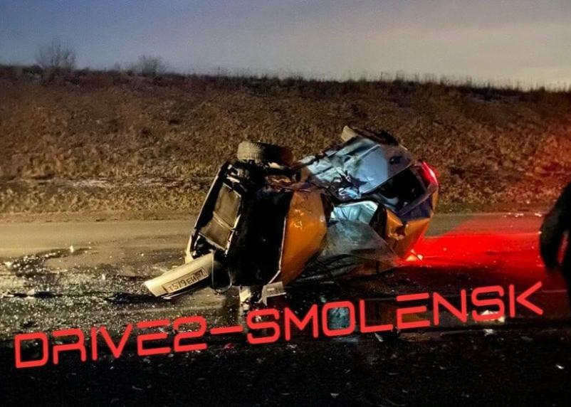 Водитель погиб на месте. На окружной Смоленска произошла серьезная авария