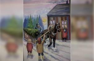 Рисунок юной смолянки станет новогодней открыткой