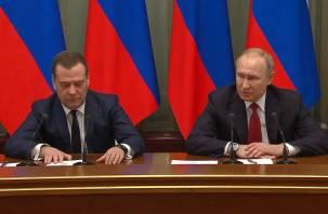 Путин предложил Медведеву стать его заместителем