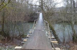 В Хиславичах реконструируют мост