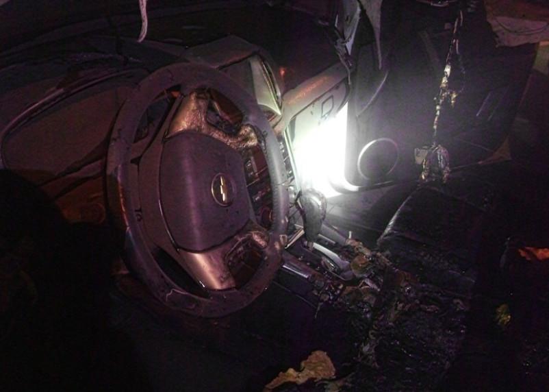 На Киселевке ночью сгорел Chevrolet Captiva