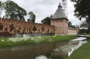 Смоленскую крепостную стену зажгут