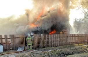 В Дорогобужском районе в огне погибли козы