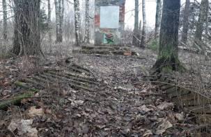 Под Смоленском нашли заброшенный мемориал погибшим воинам