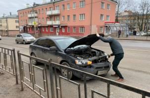«Дьявольский» Лансер попал в ДТП на Фрунзе