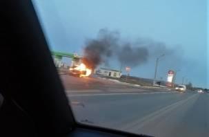 В Смоленском районе на окружной загорелась «Нива»