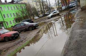 Грязь и мусор поглотили центр города Смоленска