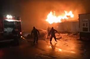 В Смоленске на Крупской полыхали машины и вагончик-бытовка