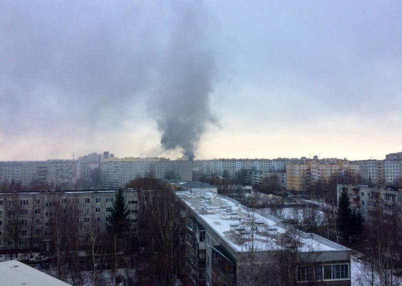 Серьезный пожар произошел на Киселевке