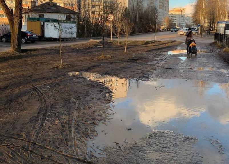 Смоляне жалуются на грязь на тротуарах