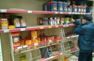 Смоленские магазины не испытывают дефицита товаров