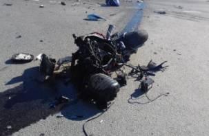 Подробности ДТП с мотоциклистом в Смоленском районе