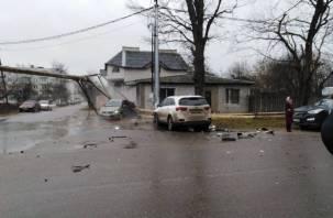 В Рославле серьезное ДТП спровоцировало коммунальную аварию