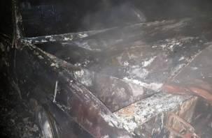 В Смоленской области огонь уничтожил автомобиль