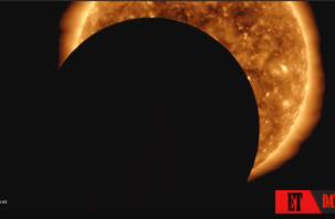 Огромный неопознанный объект закрыл Солнце