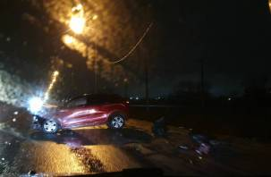 Нетрезвый водитель протаранил столб на Витебском шоссе