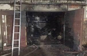 «Лада» в огне. Ремонт мопеда привел к пожару в гаражно-строительном кооперативе Десногорска