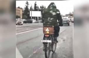 Креатив смоленского велосипедиста набирает популярность в соцсетях