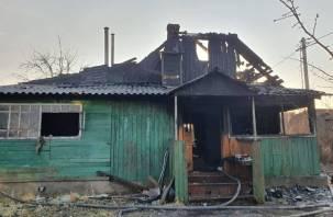Пожар в Рославле едва ли не обернулся трагедией