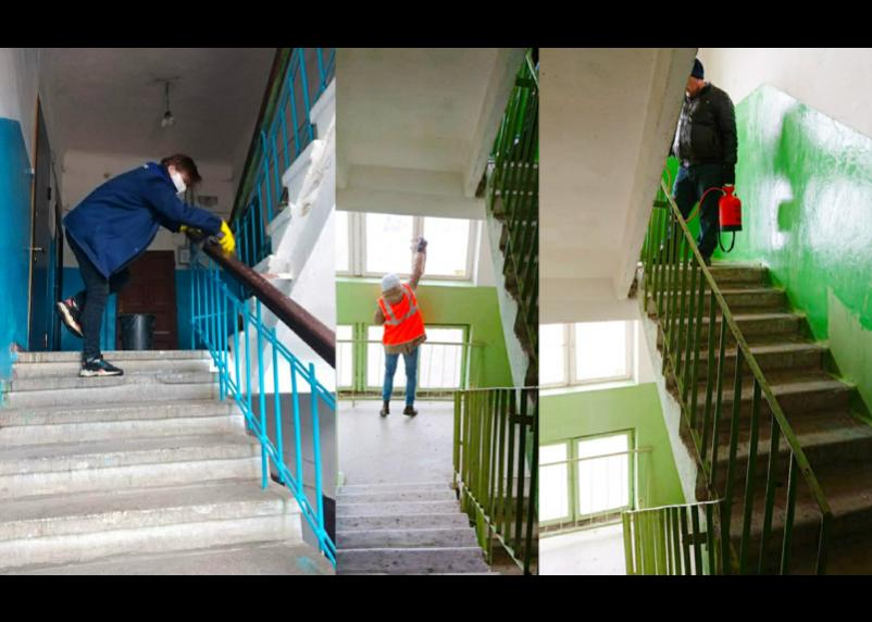 В Смоленске дезинфицируют подъезды домов