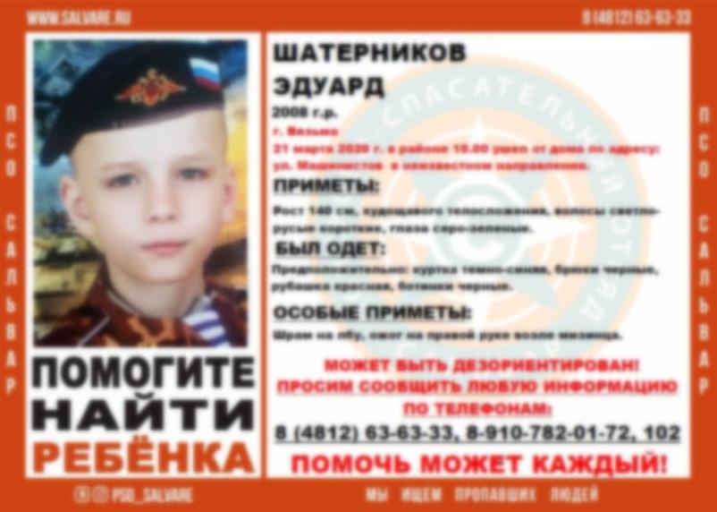 В Смоленской области пропал 11-летний ребенок