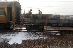 В Смоленской области полыхал вагон ремонтного поезда