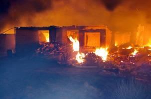 В Краснинском районе глава семейства спас из пожара троих детей, жену и мать