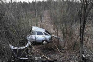 В Смоленской области ВАЗ вылетел в кювет. Два человека оказались в больнице
