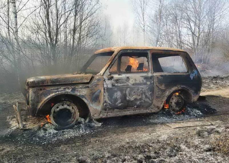 В Смоленской области за ночь сгорели три машины