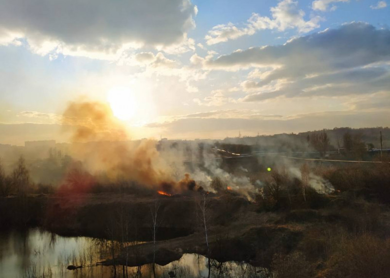За сутки на территории Смоленской области зарегистрирован 41 пал травы