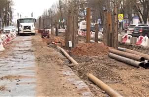 На улице Николаева в Смоленске стартовали работы по замене коллектора