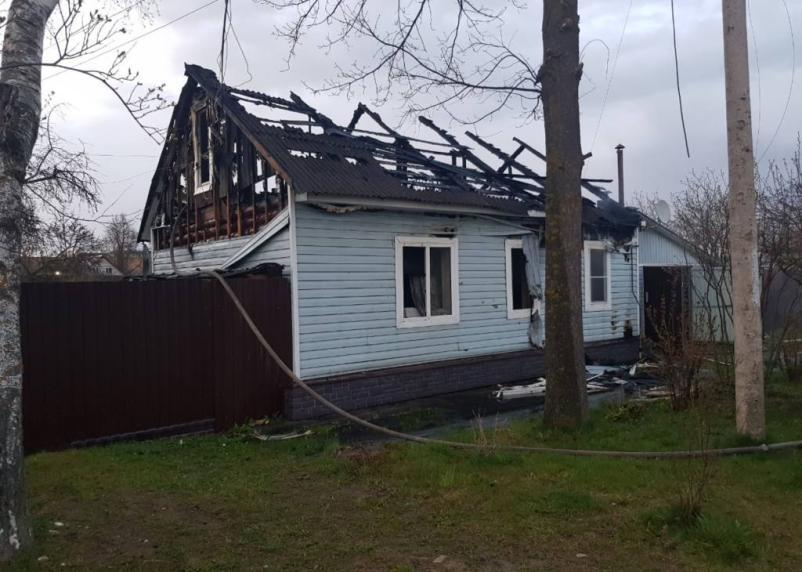 В Сычевке дети и родители едва ли спаслись из пожара