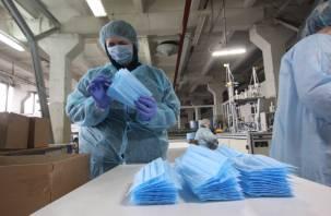 В Смоленске освоили производство защитных масок. Но в свободную продажу они не поступают