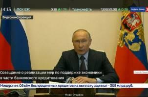 Путин призвал помочь предприятиям продолжить работу