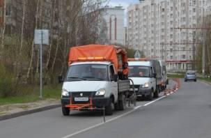 Смоленскавтодор обновляет разметку на улицах областного центра