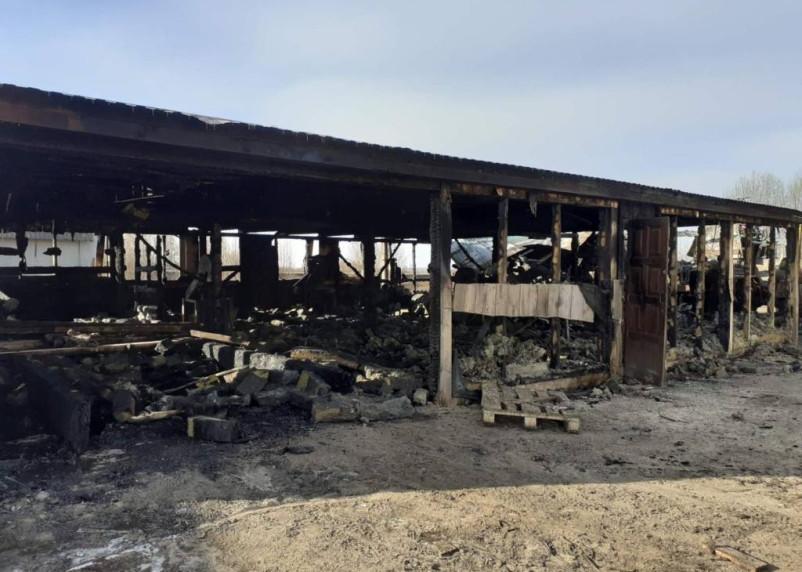 В Гагаринском районе горело производство