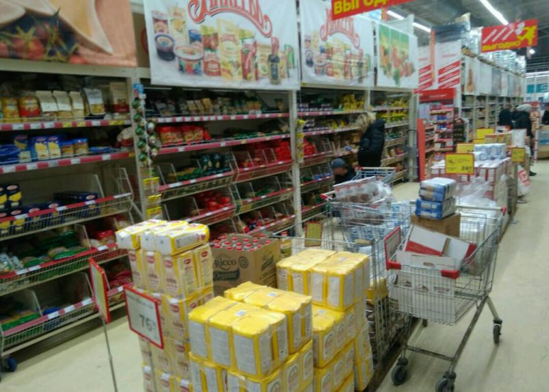 В России продукты подорожали на 8,7%